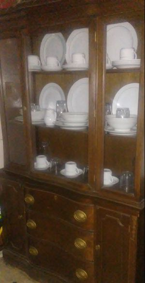 Solid Wood China Cabinet for Sale in Detroit, MI