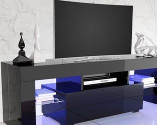 New Black Tv Stand Entertainment Center Wall Unit 63 Inches for Sale in Windermere,  FL