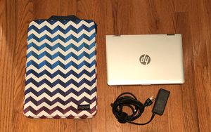 "HP Pavilion x360 - 11m-ad113dx & Charger with JanSport 15"" Laptop Sleeve Colored JS00T45E for Sale in Lansdowne, VA"