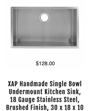 Kitchen Sink stainless steel 30 33 31 more styles and size available for Sale in Fort Lauderdale, FL