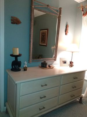 Antique whitewash finish dresser for Sale in Fort Lauderdale, FL
