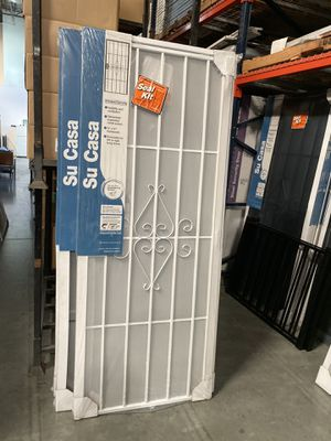 Su Casa White Surface Mount Outswing Steel Security Door with Expanded Metal Screen for Sale in Riverside, CA