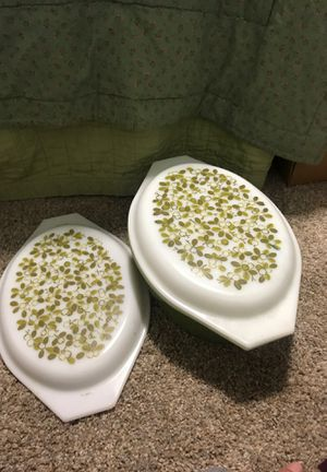 Pyrex green baking dish, casserole dish, with lid! for Sale in Vancouver, WA