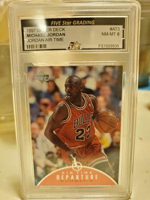 Michael Jordan 1997 Upper Deck #AT3 Jordan Airtime NM-MT 8 for Sale in Alhambra, CA