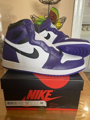 Air Jordan 1 Court Purple size 10.5 for Sale in Los Angeles, CA