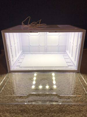 CLAP ACTIVATED LED Light Up Sneaker Display Case, Storage Container for sneakers for Sale in Dana Point, CA