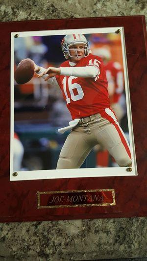 Joe Montana plaque 49er legendary QB for Sale in San Francisco, CA