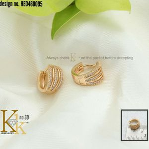 Gold Plated Diamond Studded Hoop for Sale in Phoenix, AZ