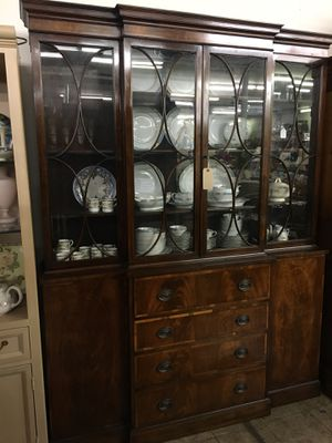 Vintage Inlaid Secretary Bookcase for Sale in Allen Park, MI