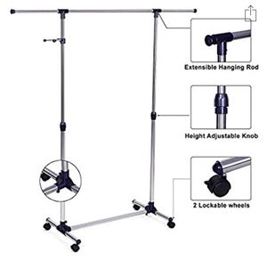 Rolling Clothing Rack Adjustable for Sale in Washington, DC