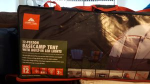 12 person Basecamp tent with built-in LED Lights for Sale in Downers Grove, IL