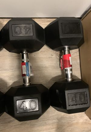 Hex dumbbells 40lbs pair for Sale in Lutz, FL