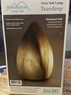 Aloha Bay Himalayan Salt Lamp Grey - Teardrop shape for Sale in San Diego, CA