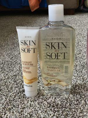 Avon Skin so soft Bath oil with Hand cream New Sealed for Sale in Garner, NC