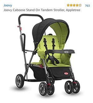 Joovy Caboose Stand On Tándem Stroller, Appletree for Sale in Lyndhurst, NJ