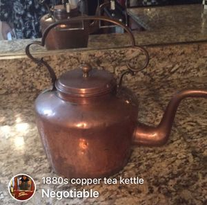 Antique copper tea kettle for Sale in Warrenton, VA