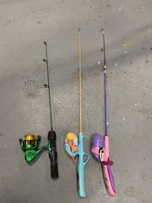 Kids mini fishing poles for Sale in Los Angeles, CA