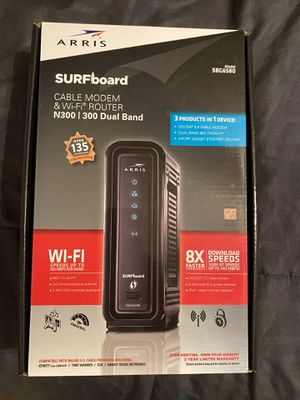 Arris Surfboard cable & wifi modem/router combo for Sale in Sacramento, CA