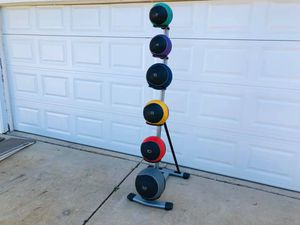 Medicine Balls - Work Out Balls - Exercise Balls - Rack - Gym Equipment - Fitness for Sale in Downers Grove, IL
