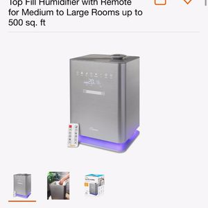 Warm & Cool Mist Top Fill Humidifier With Remote For Medium To Large Rooms for Sale in Bakersfield, CA