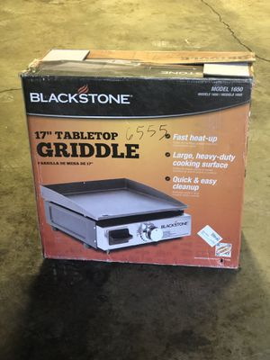 "*NEW BLACKSTONE 17 "" TABLETOP PROPANE GRIDDLE for Sale in Joliet, IL"