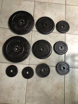 Standard 1 inch weights for barbell or dumbbells for Sale in Santa Ana, CA