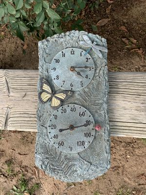 Outdoor Nonworking Clock & Thermostat Wall Decor for Sale in Clovis, CA