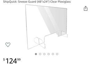 "48"" x 24"" Sneeze Guard Clear Plexiglass for Sale in Miami, FL"