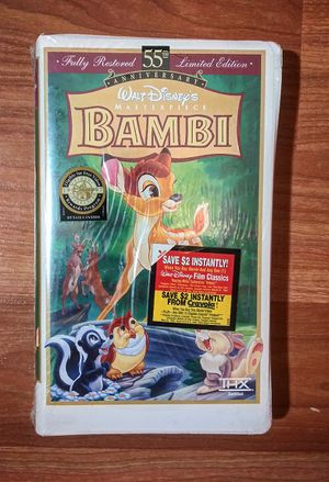 New Bambi VHS, Fully Restored Limited Edition 55th Anniversary, Walt Disney for Sale in Douglasville, GA