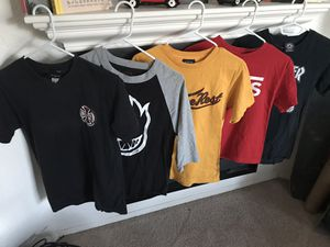 Skate clothes lot- 5 t shirts, 1 hoodie (atticus sold) for Sale in San Diego, CA