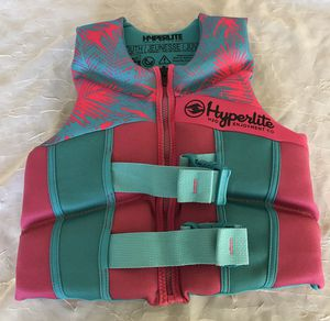 NEW HYPERLITE WAKE CO. PINK BLUE YOUTH SIZE 55-88 lbs. LIFE JACKETS VEST PFD'S CAMPING SWIMMING JET SKI for Sale in Phoenix, AZ