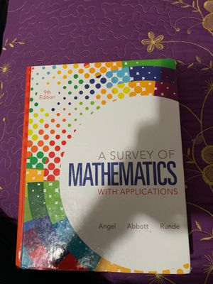 A survey of mathematics with applications 9th edition for Sale in Phoenix, AZ