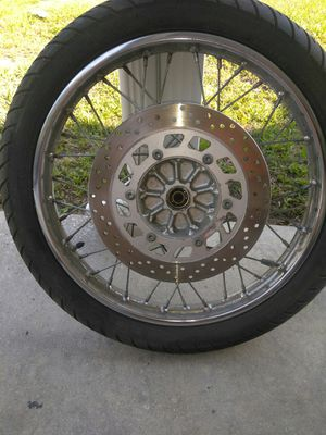 Crome polished motorcycle times with tires for Sale in Plant City, FL