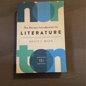 The Norton Introduction To Literature 13 Edition for Sale in La Puente, CA