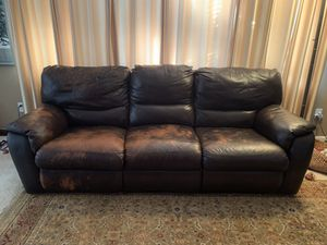Leather Double Electric Recliner for Sale in Suisun City, CA
