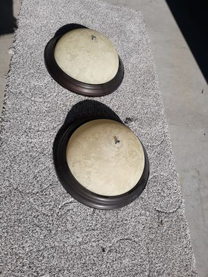 "2 flush mount 13"" bronze light fixtures for Sale in Lebanon, TN"