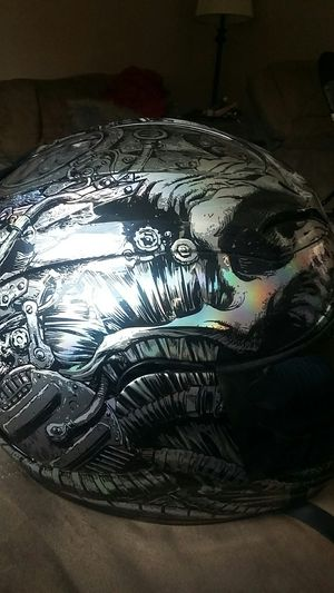 Graphic motorcycle helmet with go pro mount for Sale in Pittsburgh, PA