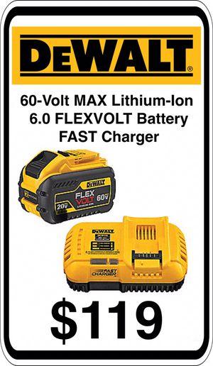 BRAND NEW - DeWalt 6.0 Ah 60V Flex Volt Battery & Fast Charger - We accept trades & Credit Cards - AzBE Deals for Sale in Sun City, AZ