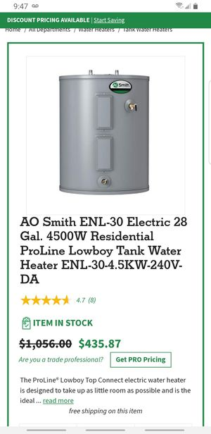 28gallon water heater for Sale in Charlotte, NC