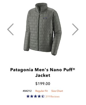Patagonia Men's Nano puff Jacket Large for Sale in Hayward, CA