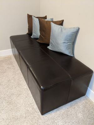 Leather ottoman for Sale in Snoqualmie, WA