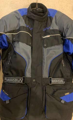 Motorcycle Jacket XL. Scotch lite 3M, Codura, armored with ventilation. Black and blue Perfect condition. for Sale in West Palm Beach, FL