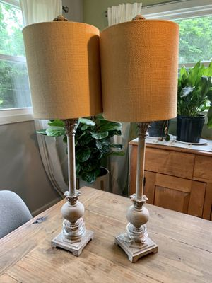Pair of Rustic Tall Lamps for Sale in Charlotte, NC