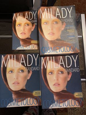Milady Cosmetology text book and work books for Sale in Moreno Valley, CA