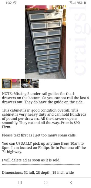 TAB 20 Drawers Tool Box Chest Small Parts Index Card Filing Cabinet for Sale in Pomona, CA