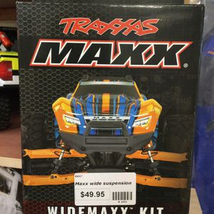Traxxas Widemaxx Suspension Kit in Orange for Maxx 4S @ Parkflyers RC Hobby Shop in Lakewood NJ for Sale in Lakewood Township, NJ