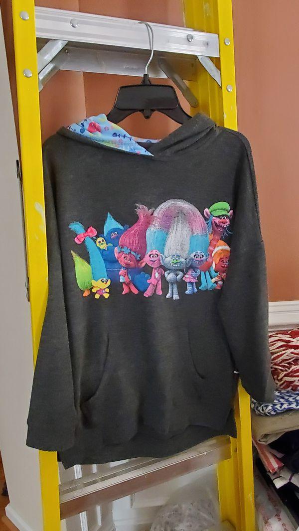 Trolls hoodie girls large