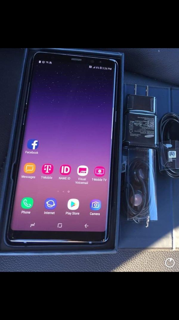 Samsung galaxy note 8 - factory unlocked with accessories + clean IMEI