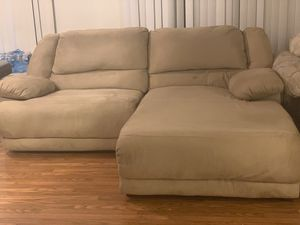 Couch with recliner (his & hers) for Sale in Las Vegas, NV
