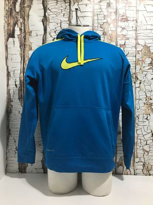 Nike Therma Fit Blue And Neon Yellow Pullover Hoodie Mens Size Large for Sale in Denver, CO